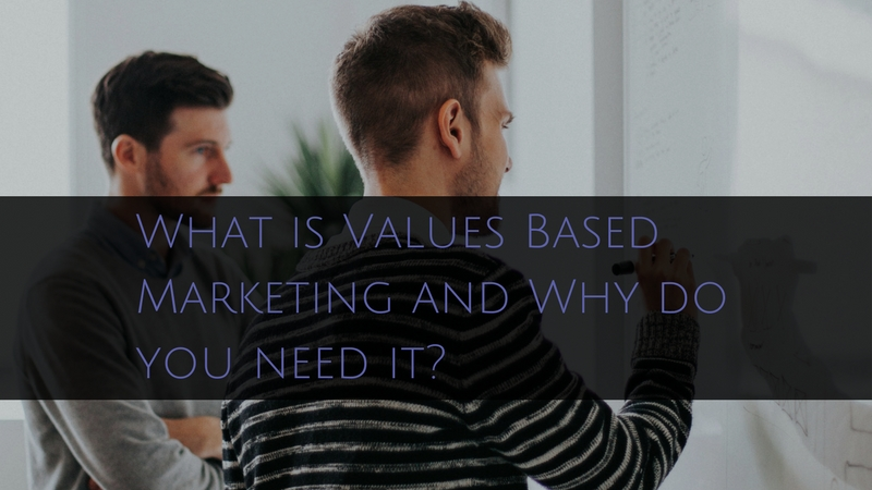 two men discussing the importance of Values based marketing